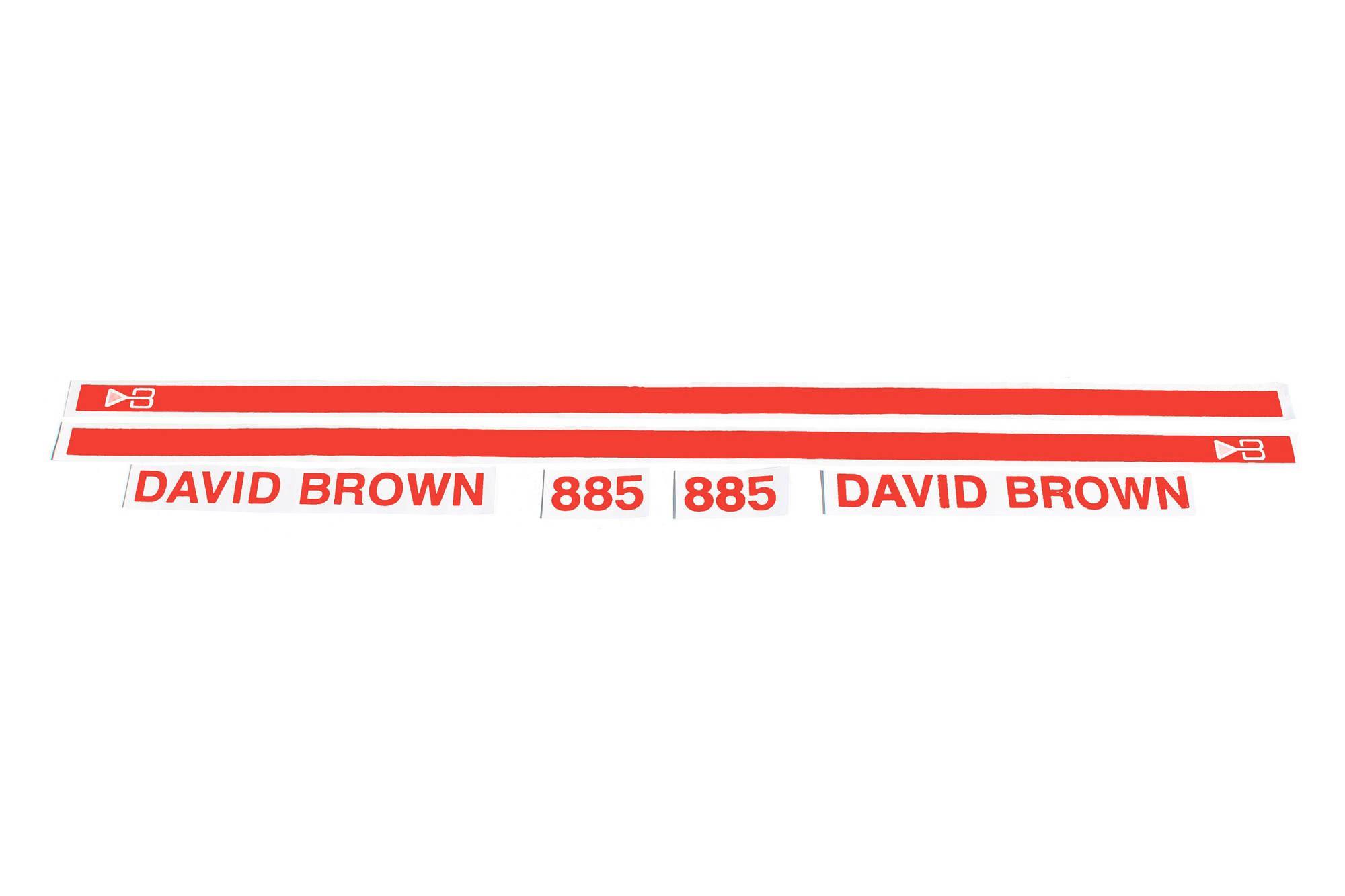Gestänge Einstellung Aufkleber Für David Brown 770 780 880 885 990 995 996